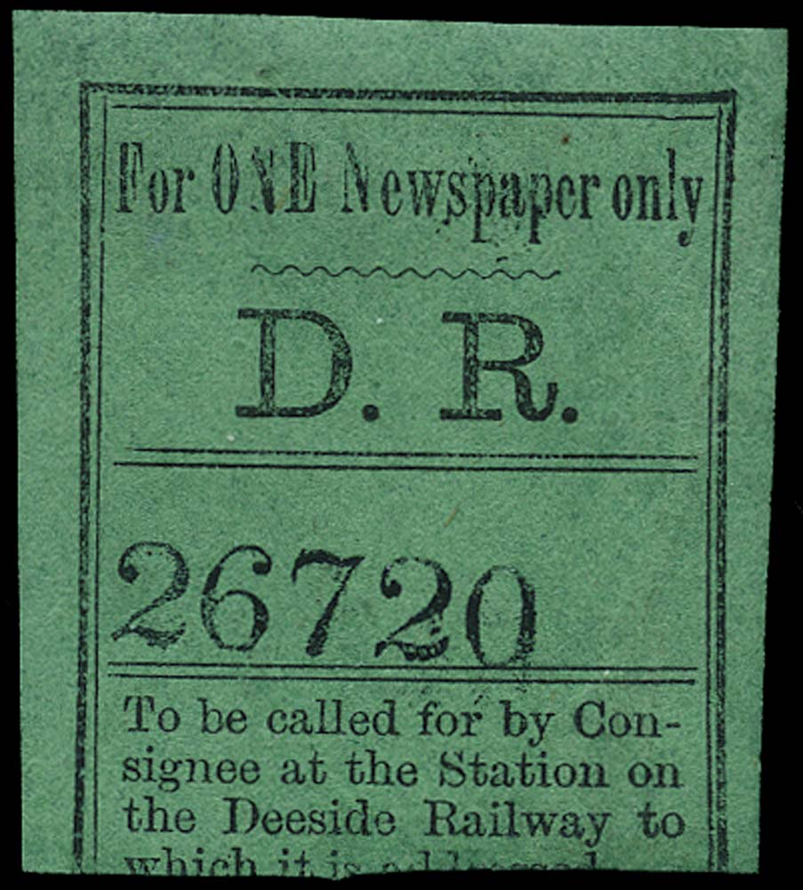 GB 1868 Railway - Deeside Railway