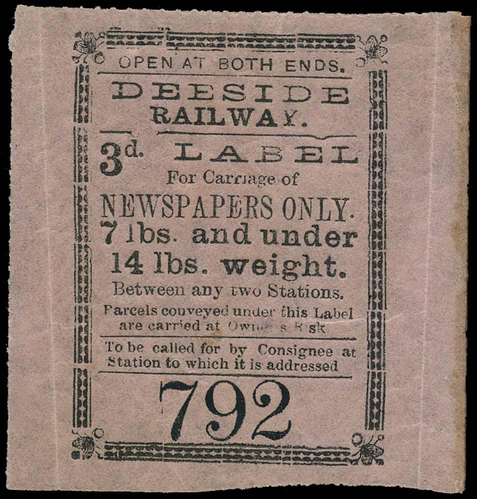 GB 1870 Railway - Deeside Railway