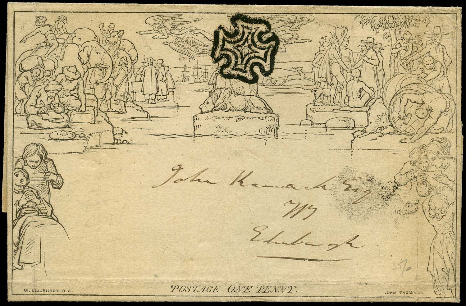 GB 1840  SGME1 Cover - Perth MC