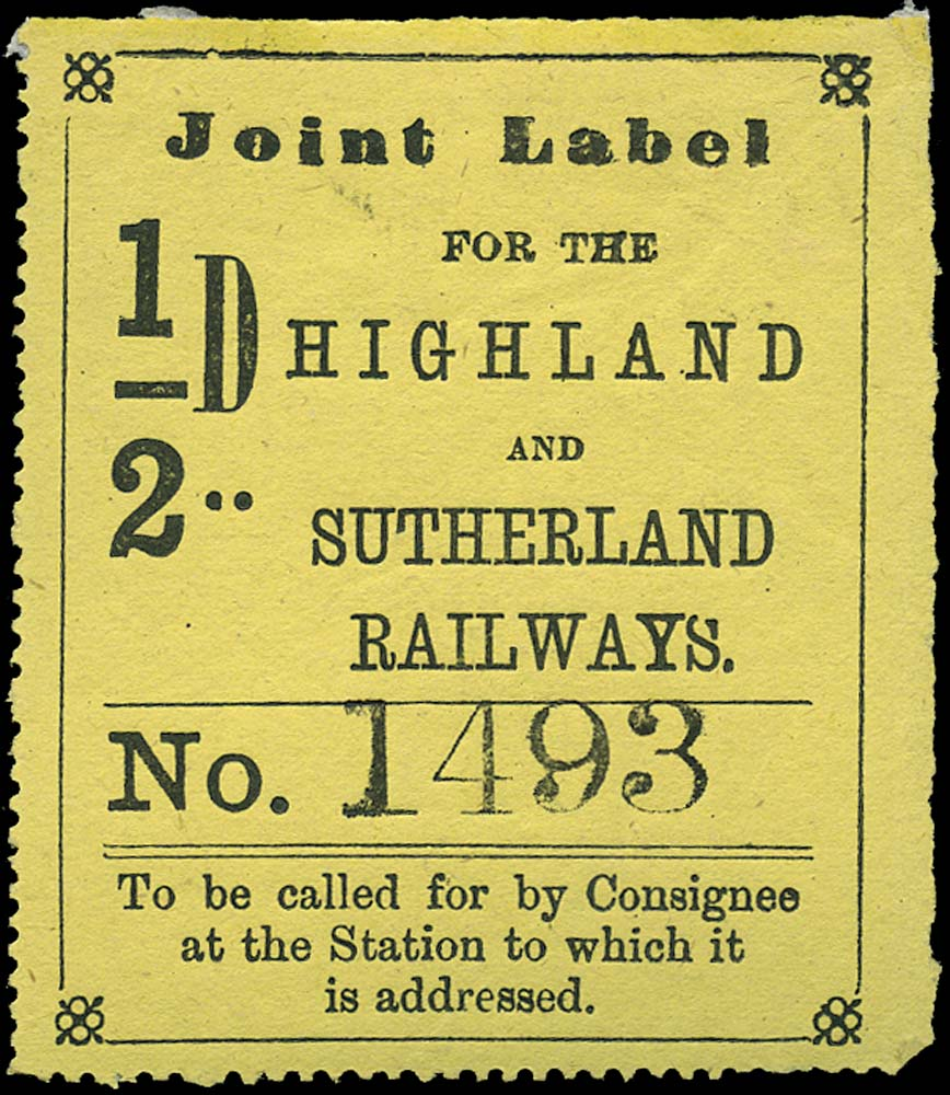 GB 1874 Railway - Highland and Sutherland Railway
