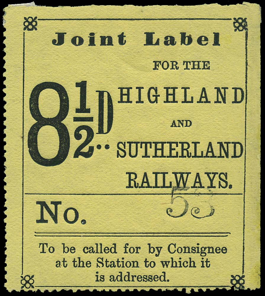 GB 1874 Railway - Highland and Sutherland Railway