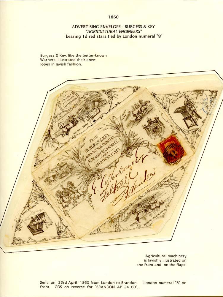 GB 1860  SG40 Cover - Advertising envelope