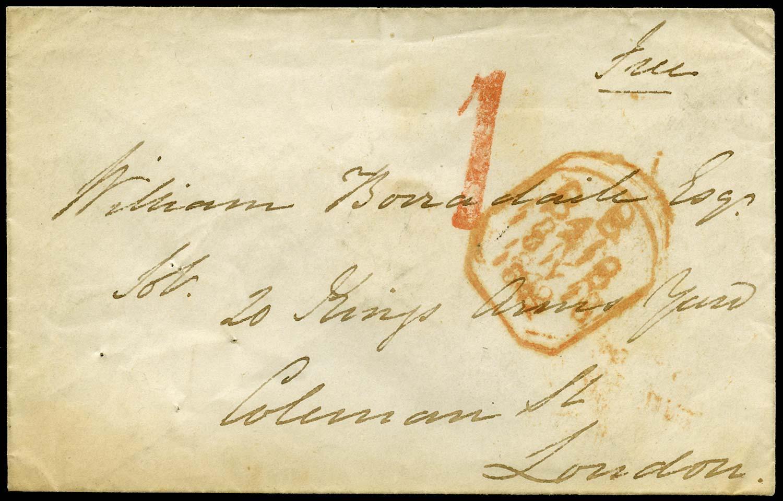 GB 1842 Pre-Stamp - Windsor Uniform Penny Post 'Waterpump 1' (Type a)