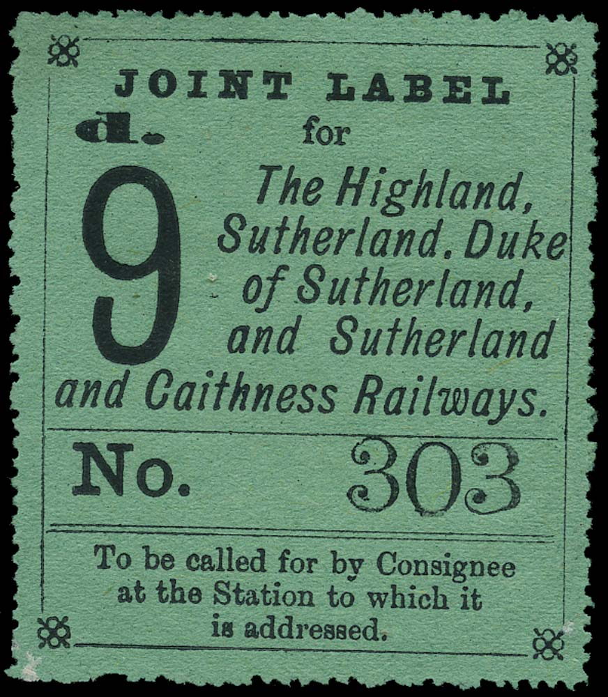 GB 1877 Railway - Highland, Sutherland, Duke...