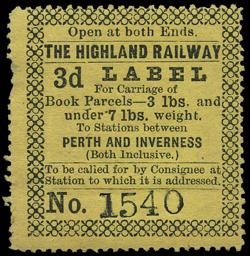 GB 1867 Railway - Highland Railway Perth & Inverness
