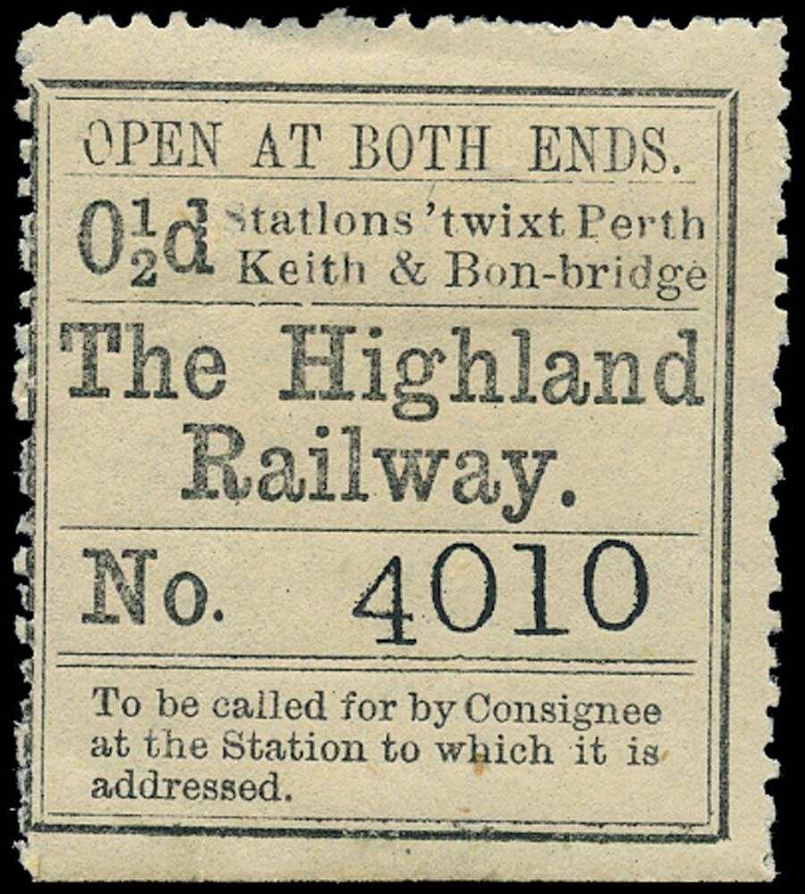 GB 1874 Railway - Highland Railway 'twixt Perth, Keith & Bon
