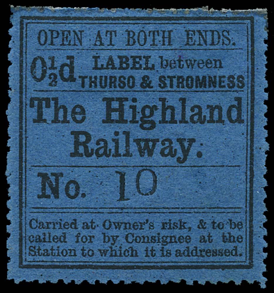 GB 1875 Railway - Highland Railway Thurso & Stromness