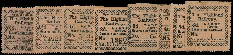 GB 1874 Railway - Highland Railway Golspie and Helmsdale