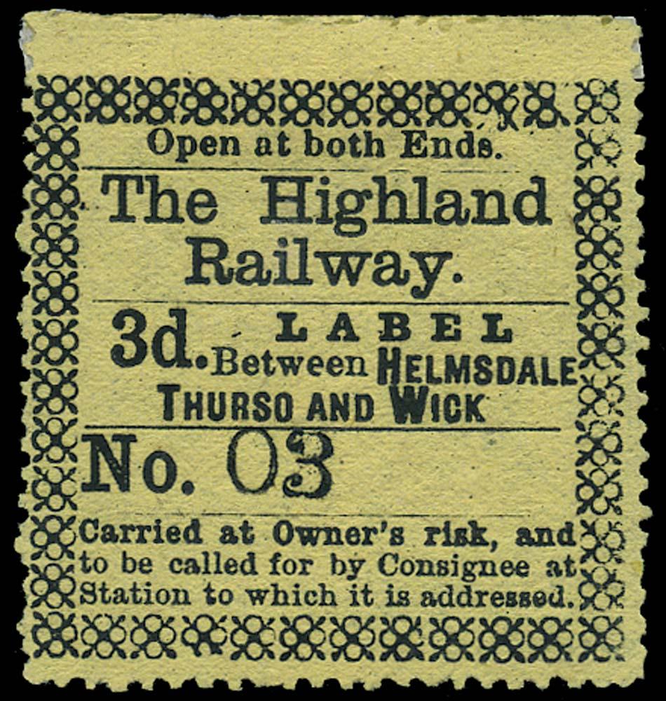 GB 1874 Railway - Highland, Helmsdale, Thurso & Wick