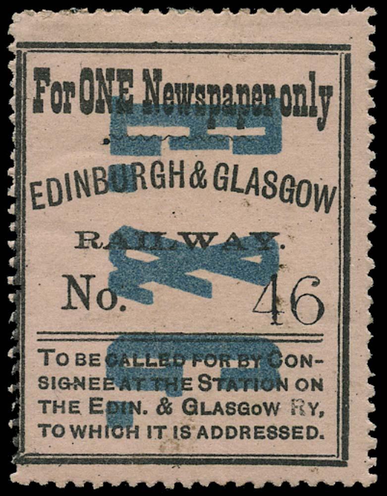 GB 1864 Railway - Edinburgh & Glasgow Railway