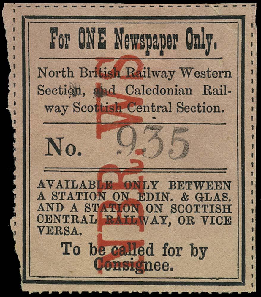 GB 1864 Railway - North British Railway, Western Section