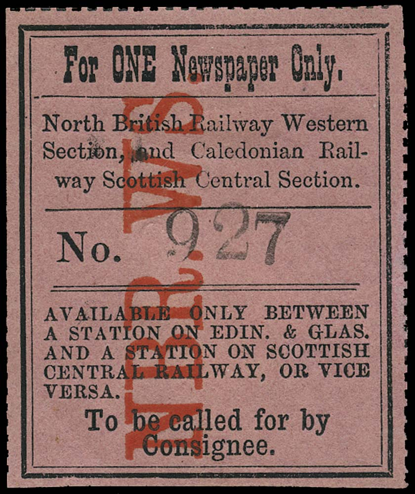 GB 1864 Railway - North British Railway, Western Section