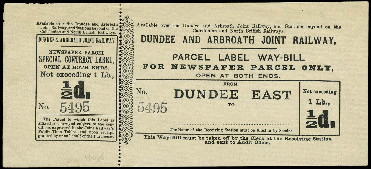 GB 1880 Railway - Dundee & Arbroath Joint Railway