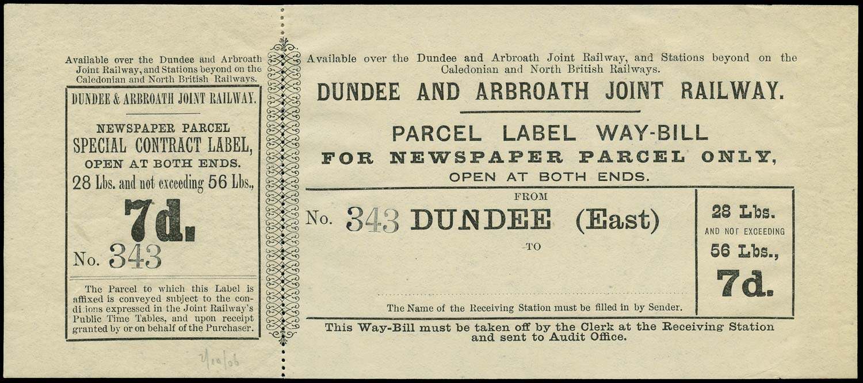 GB 1880 Railway - Dundee & Arbroath Joint Railway