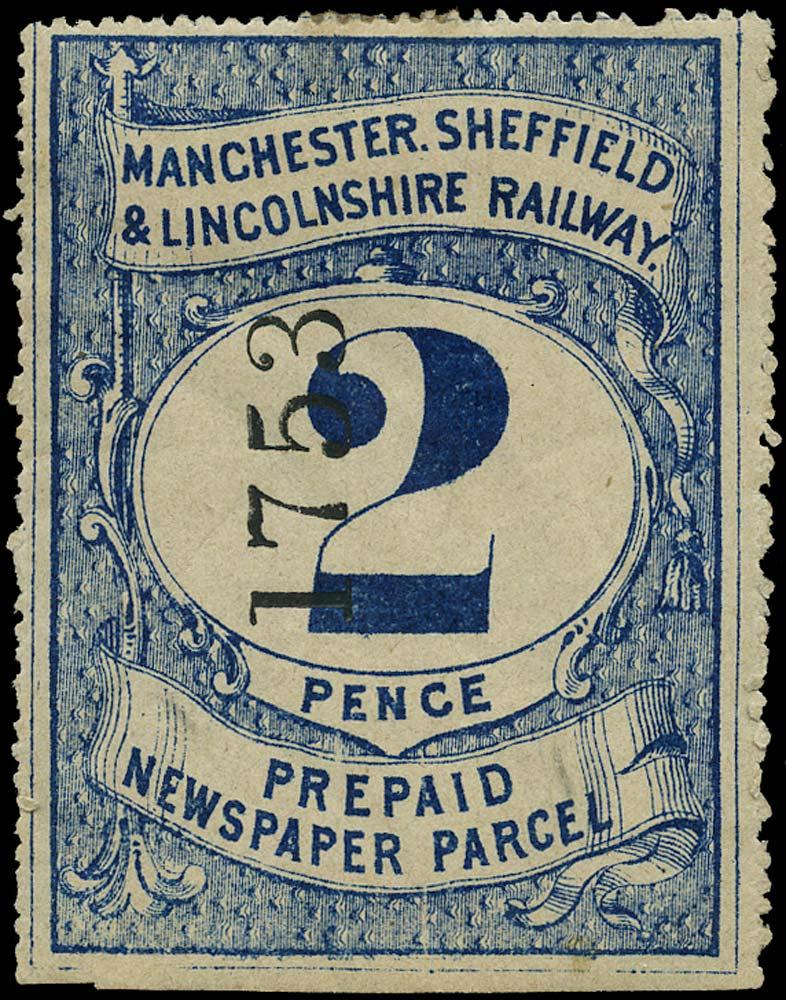 GB 1870 Railway - Manchester, Sheffield & Lincs Railway