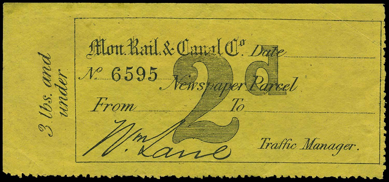 GB 1870 Railway - Monmouth Rail & Canal Company