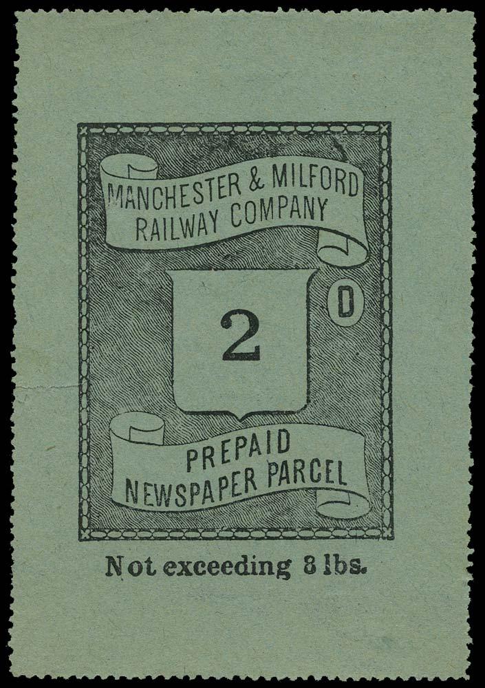 GB 1870 Railway - Manchester & Milford Railway