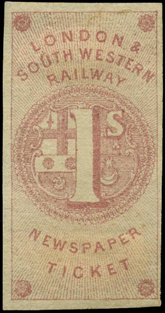 GB 1855 Railway - London & South-Western Railway