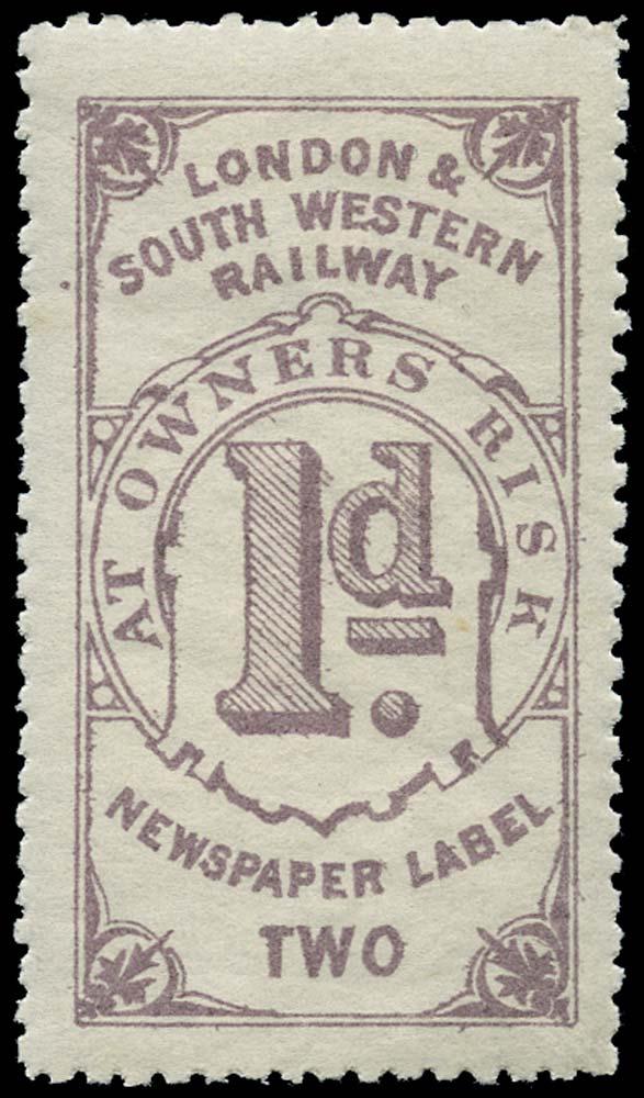 GB 1868 Railway - London & South-Western Railway