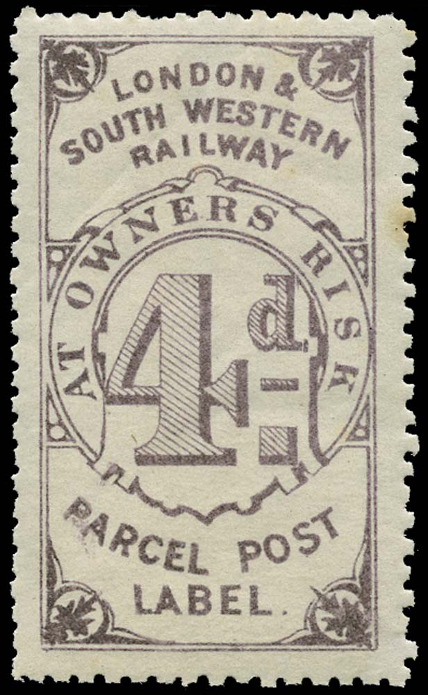 GB 1872 Railway - London & South-Western Railway