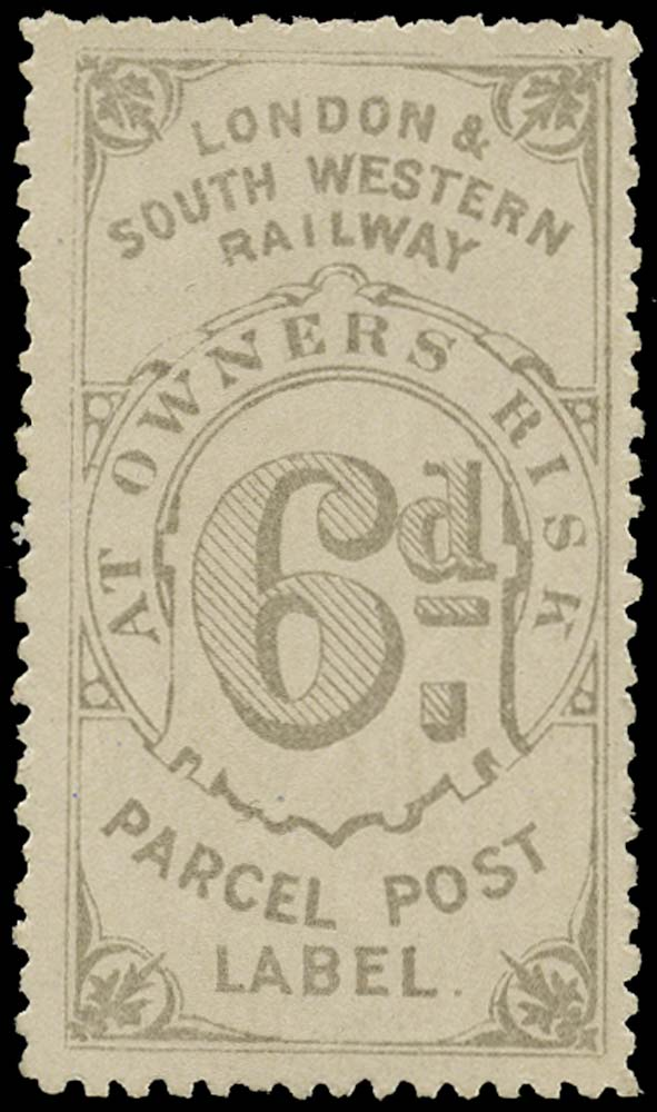 GB 1872 Railway - London & South-Western Railway