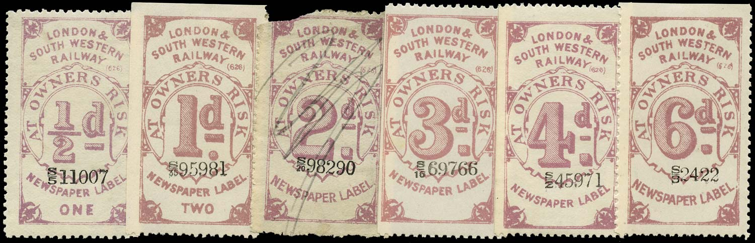 GB 1890 Railway - London & South-Western Railway