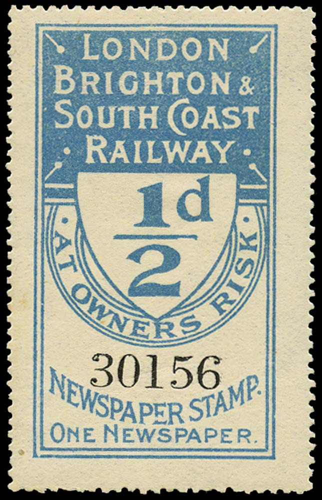GB 1902 Railway - London, Brighton & South Coast Railway