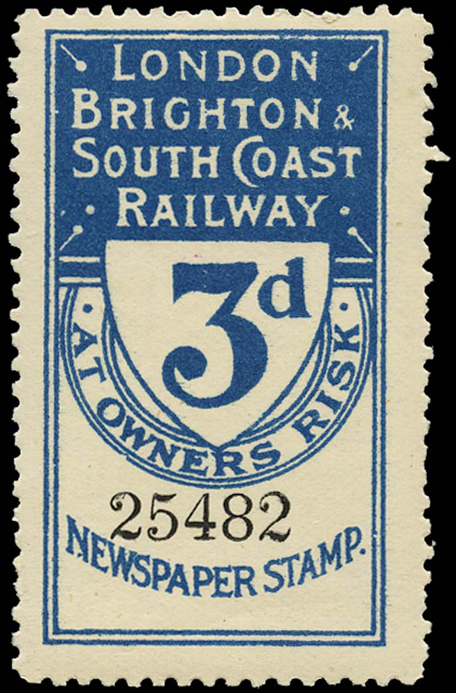 GB 1902 Railway - London, Brighton & South Coast Railway
