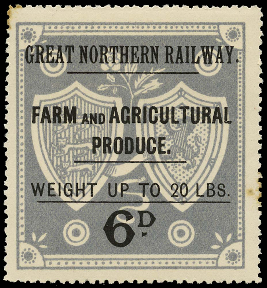 GB 1900 Railway - Great Northern Railway Produce label
