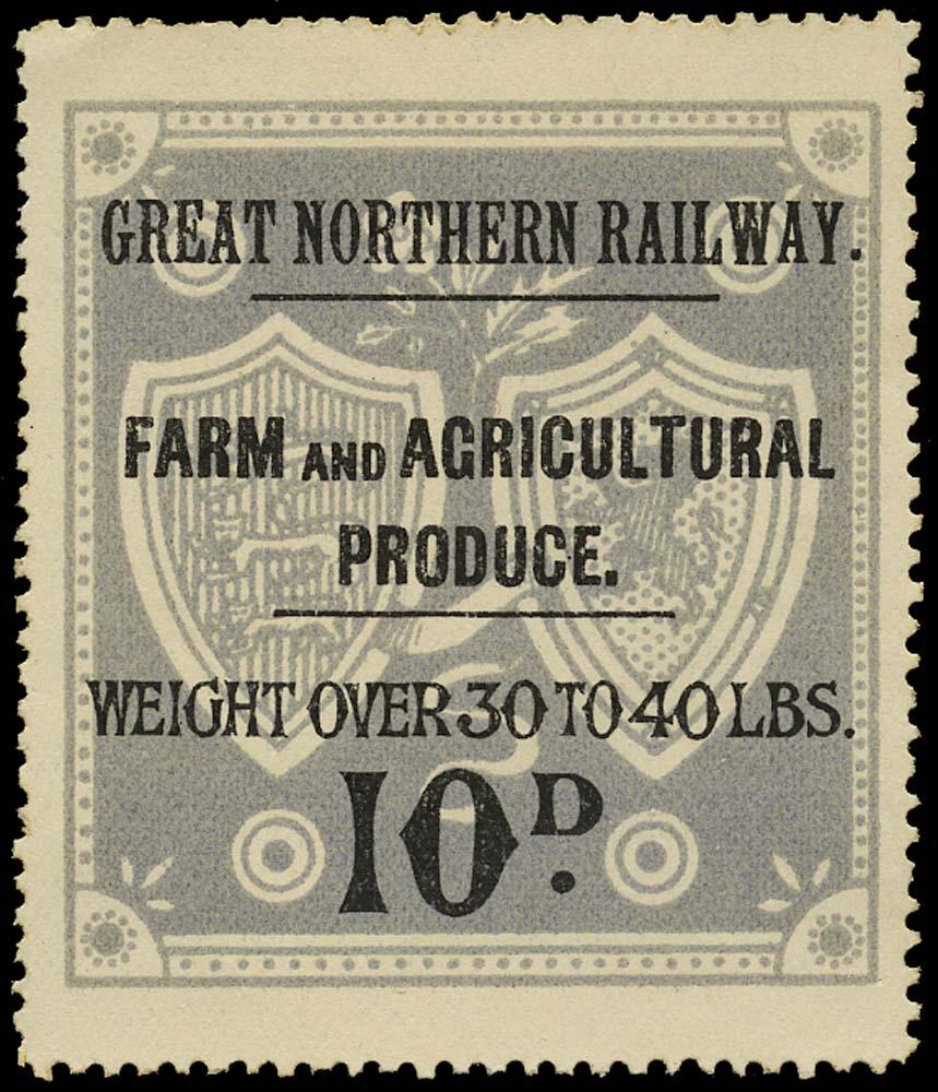 GB 1900 Railway - Great Northern Railway Produce label