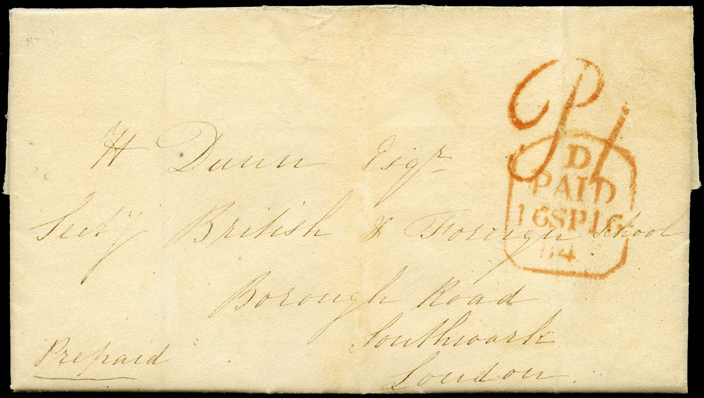 GB 1840 Pre-Stamp - Godalmin Uniform Penny Post 'P1' handstamp