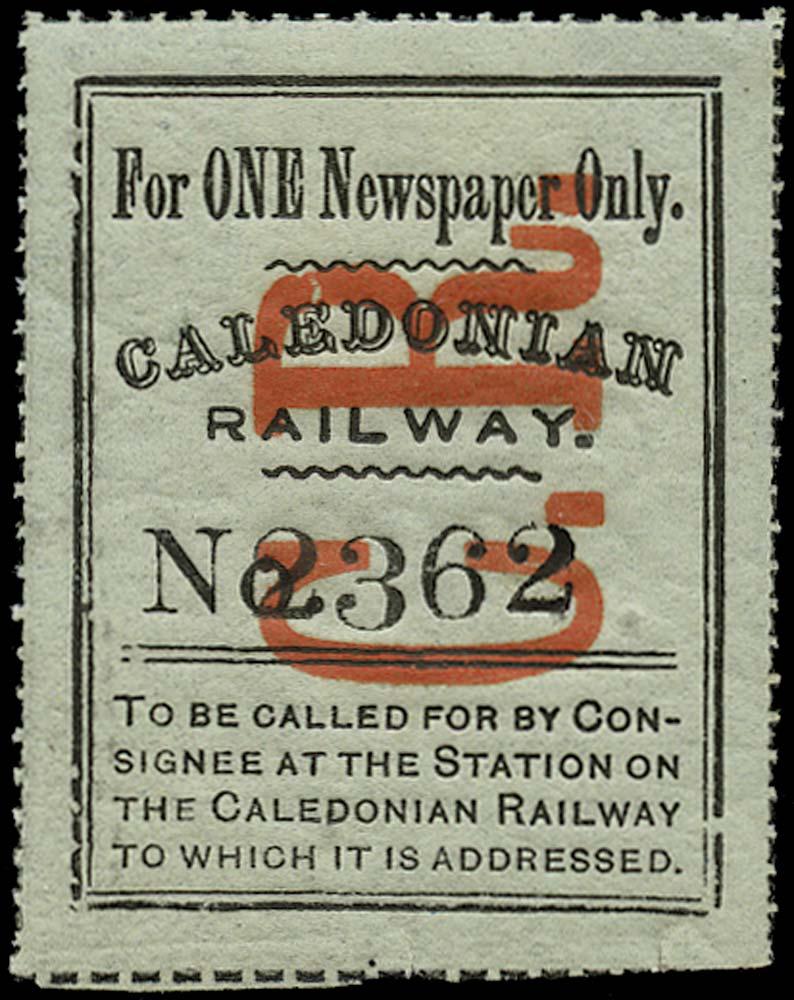 GB 1875 Railway - Caledonian Railway