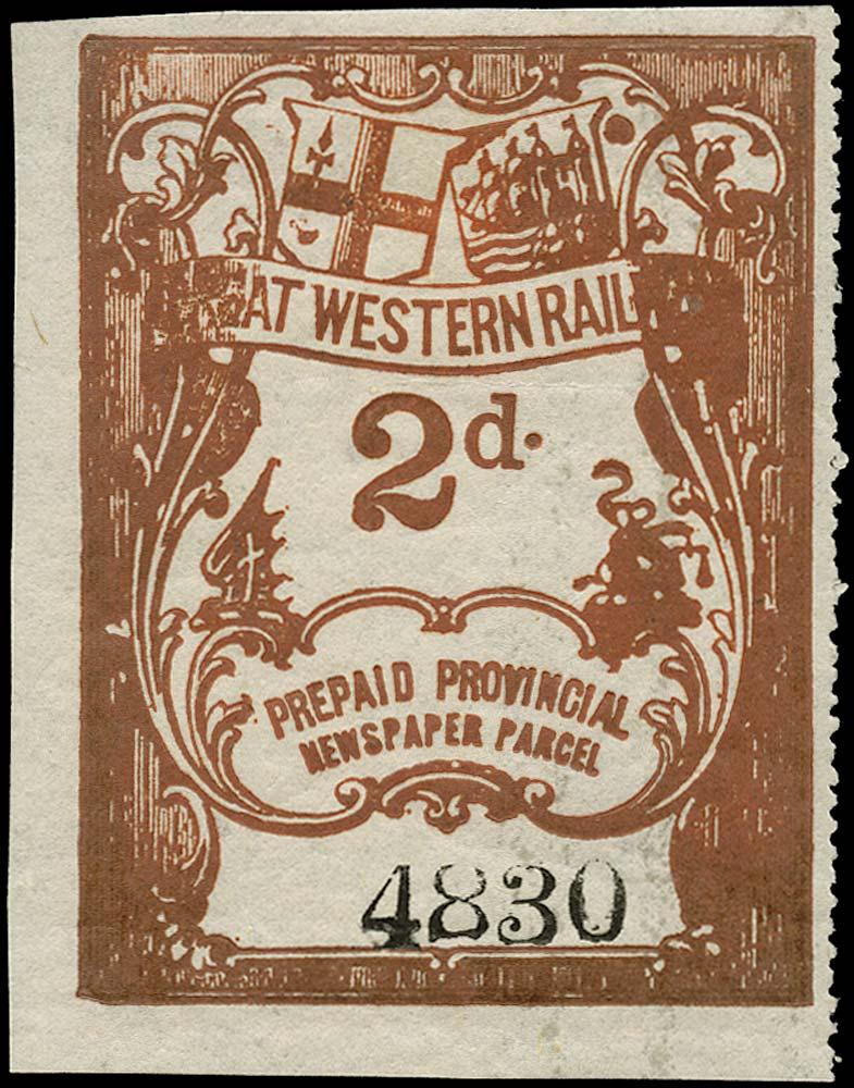 GB 1869 Railway - Great Western Railway