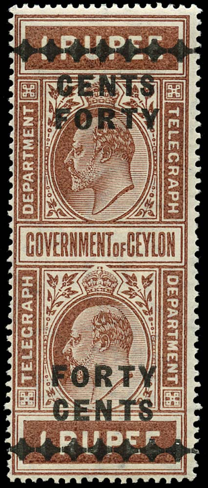 CEYLON 1910  SGT183 Telegraph