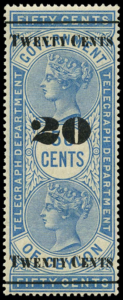 CEYLON 1882  SGT35 Telegraph