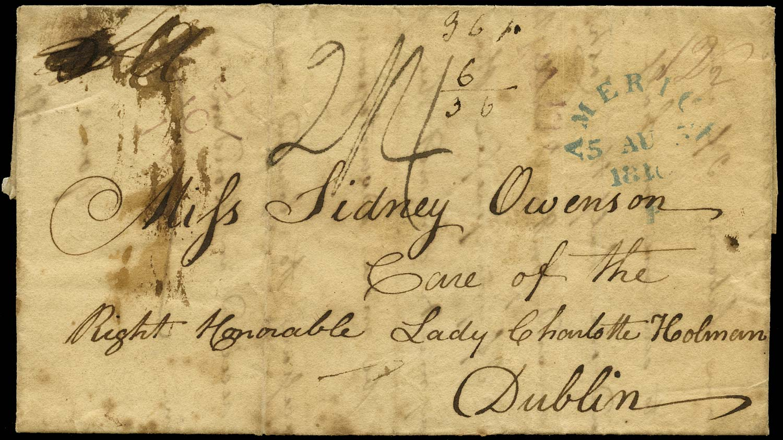 GB 1810 Pre-Stamp - Falmouth 'AMERICA/F' handstamp