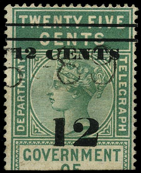 CEYLON 1882  SGT24a Telegraph