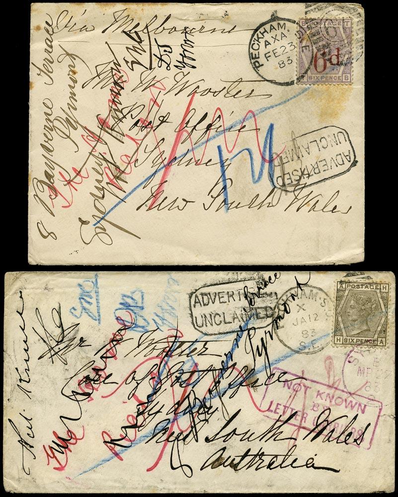GB 1883  SG161,162 Pl.18 Cover