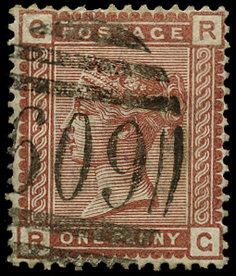 GB 1880  SG166c Pl.12 Used - Recut 'R' variety