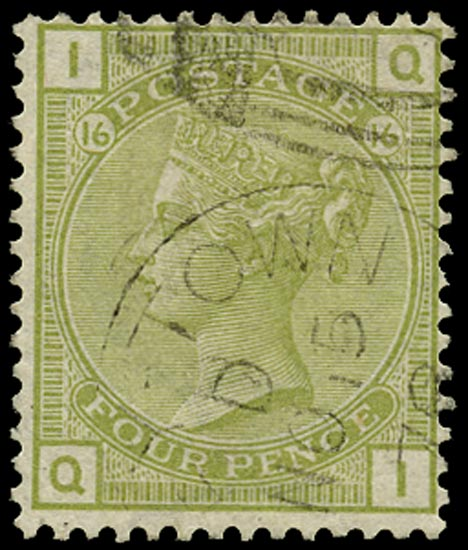 GB 1877  SG153 Pl.16 Used in Grey-town, Nicaragua
