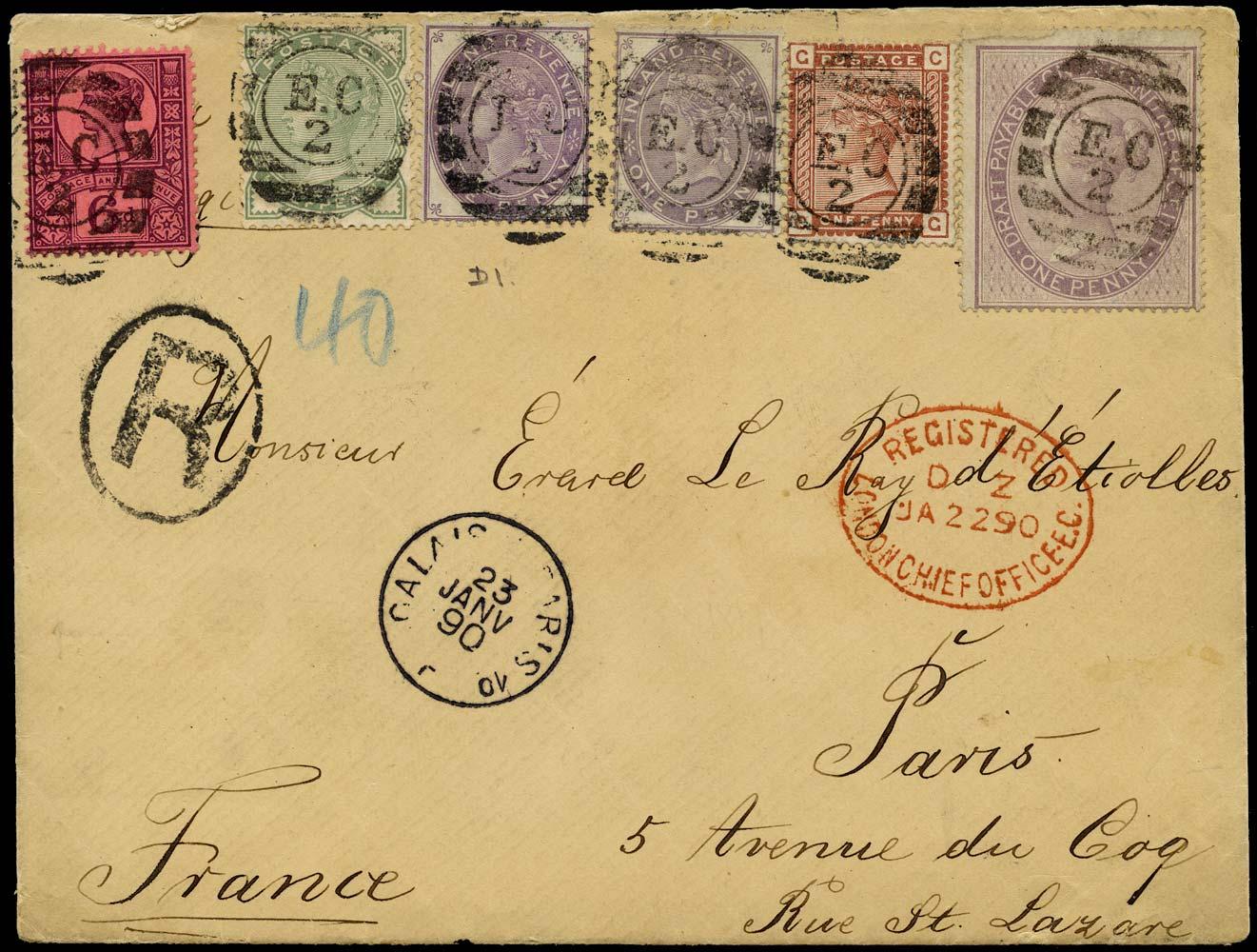 GB 1890  SG165,166,208a,F7,F19 Cover