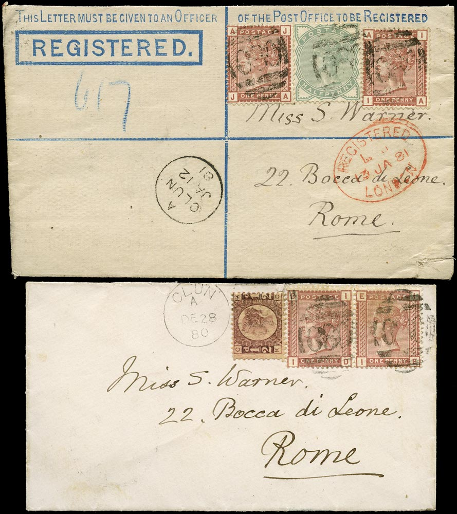 GB 1880-81  SG48,165,166 Cover