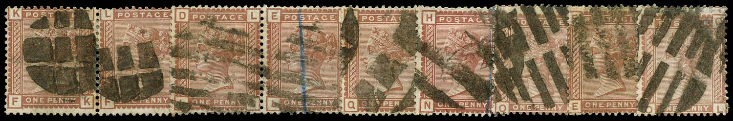 GB 1880  SG166 Used - Inspector's cork cancels