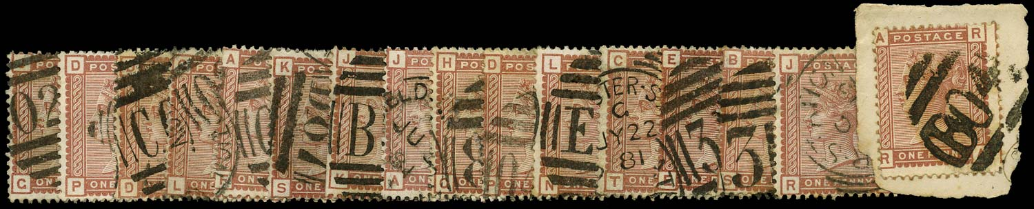 GB 1880  SG166 Used - Railway Station cancels