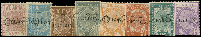 CEYLON 1880  SGT1/8 Telegraph