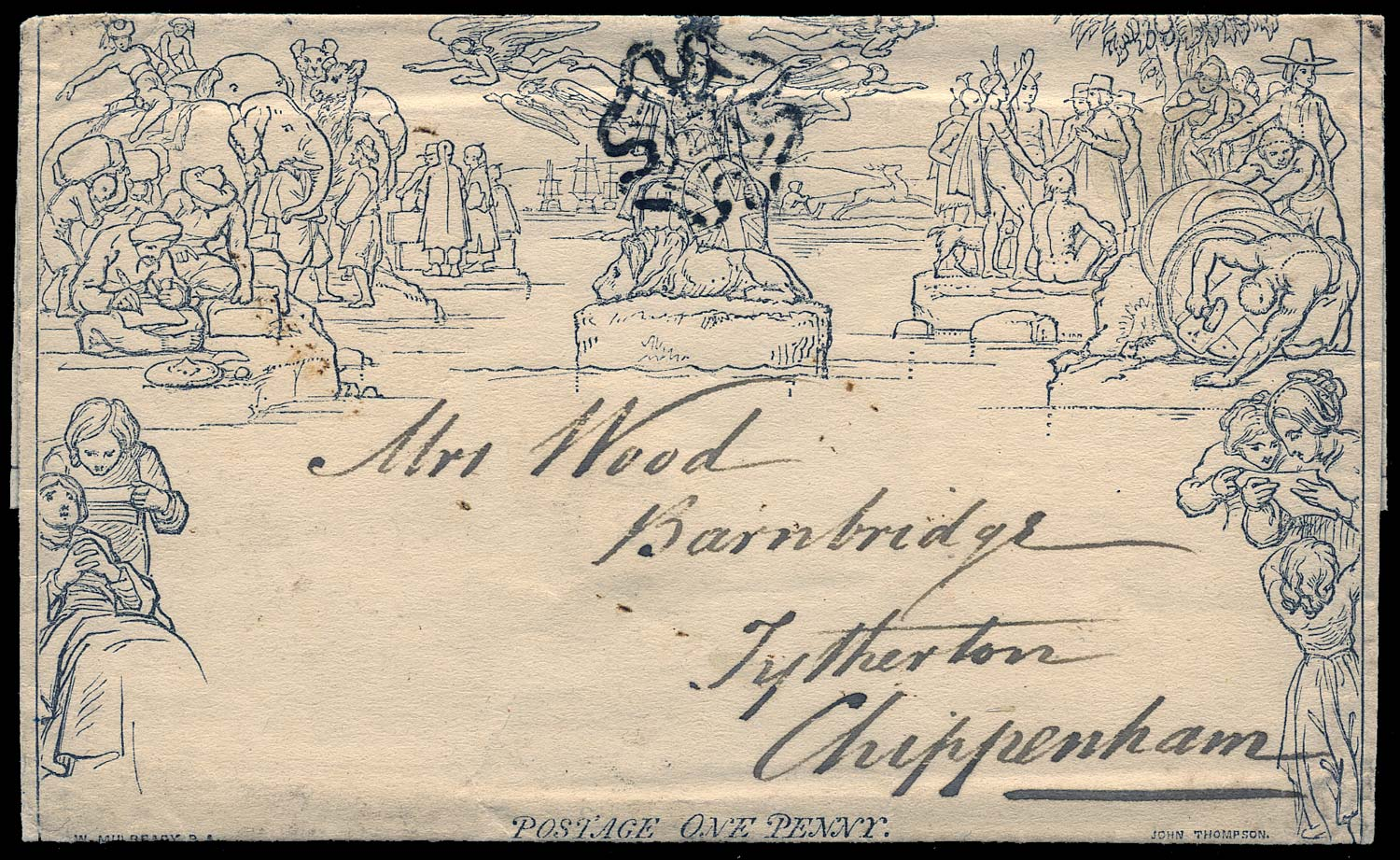 GB 1840  SGME1 Cover used in Chippenham
