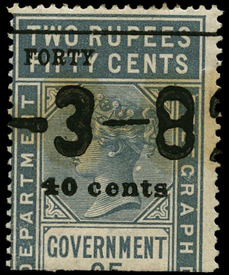 CEYLON 1882  SGT59 Telegraph