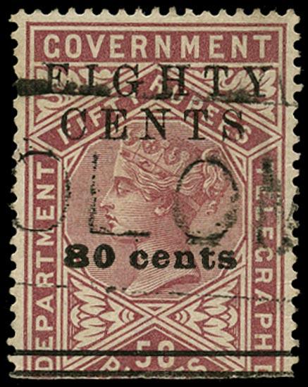 CEYLON 1882  SGT120 Telegraph