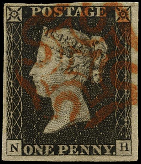 GB 1840  SG2 Pl.2 Penny Black red MC (NH)
