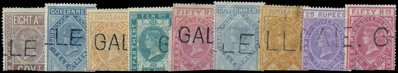 CEYLON 1869  SGZT3, 5/6, 9, 12, 15 Telegraph